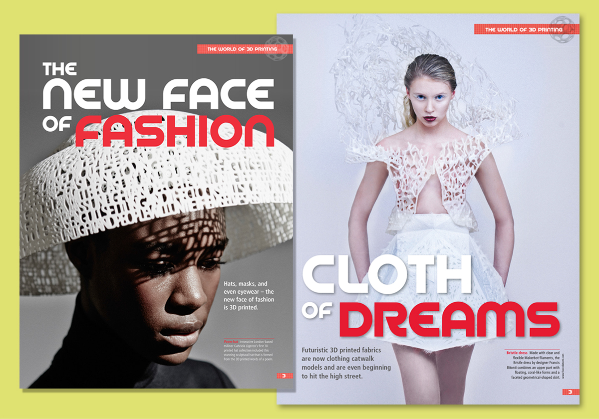 3D Create & Print magazine design pages