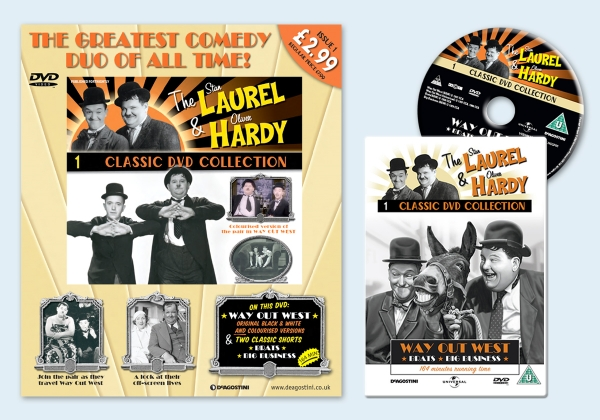 Brand creation for Laurel & Hardy magazine & DVD collection