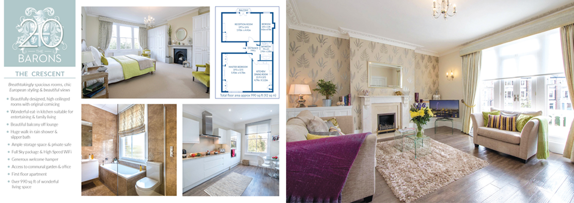 Brochure design for luxury apartments in London