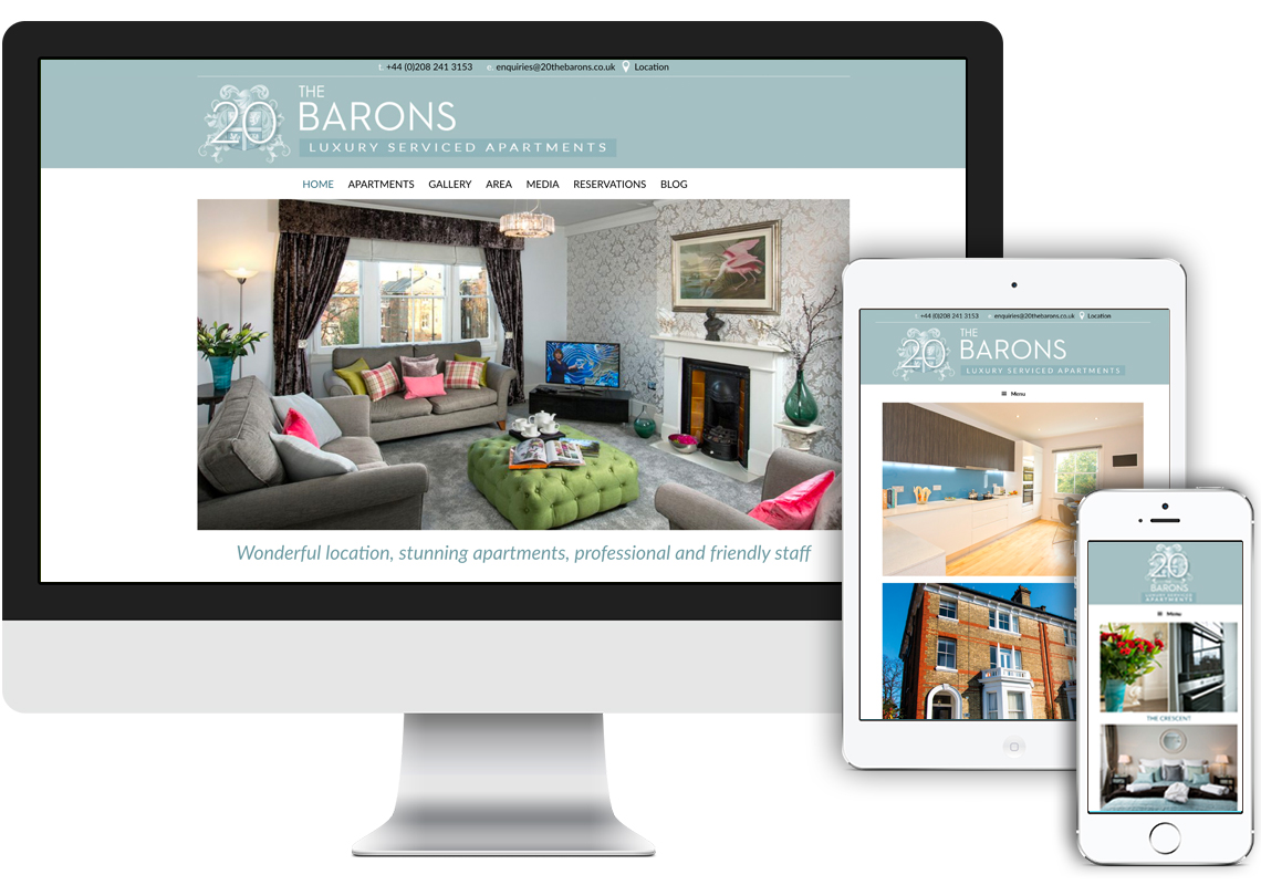 Barons web design