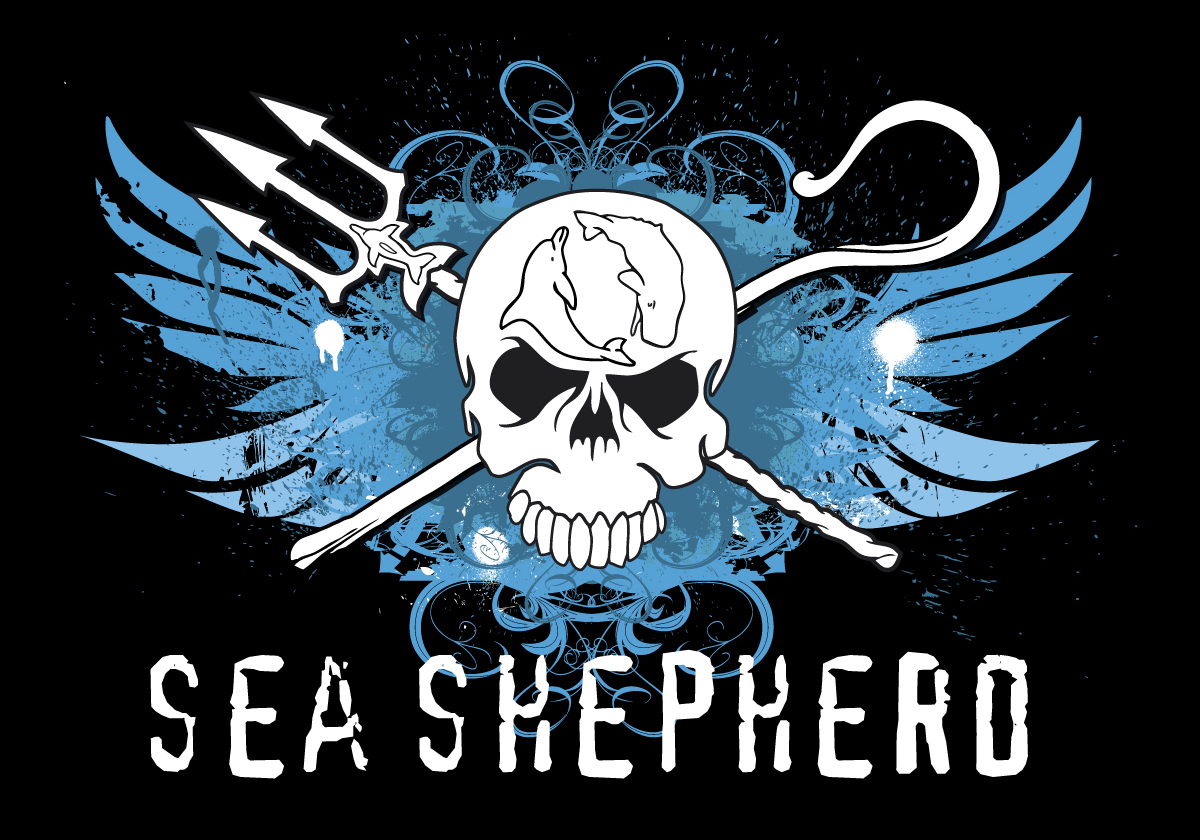 Blue Angel Wings Sea Shepherd design