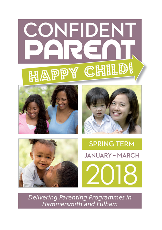 Confident Parent, Happy Child printed brochures front cover