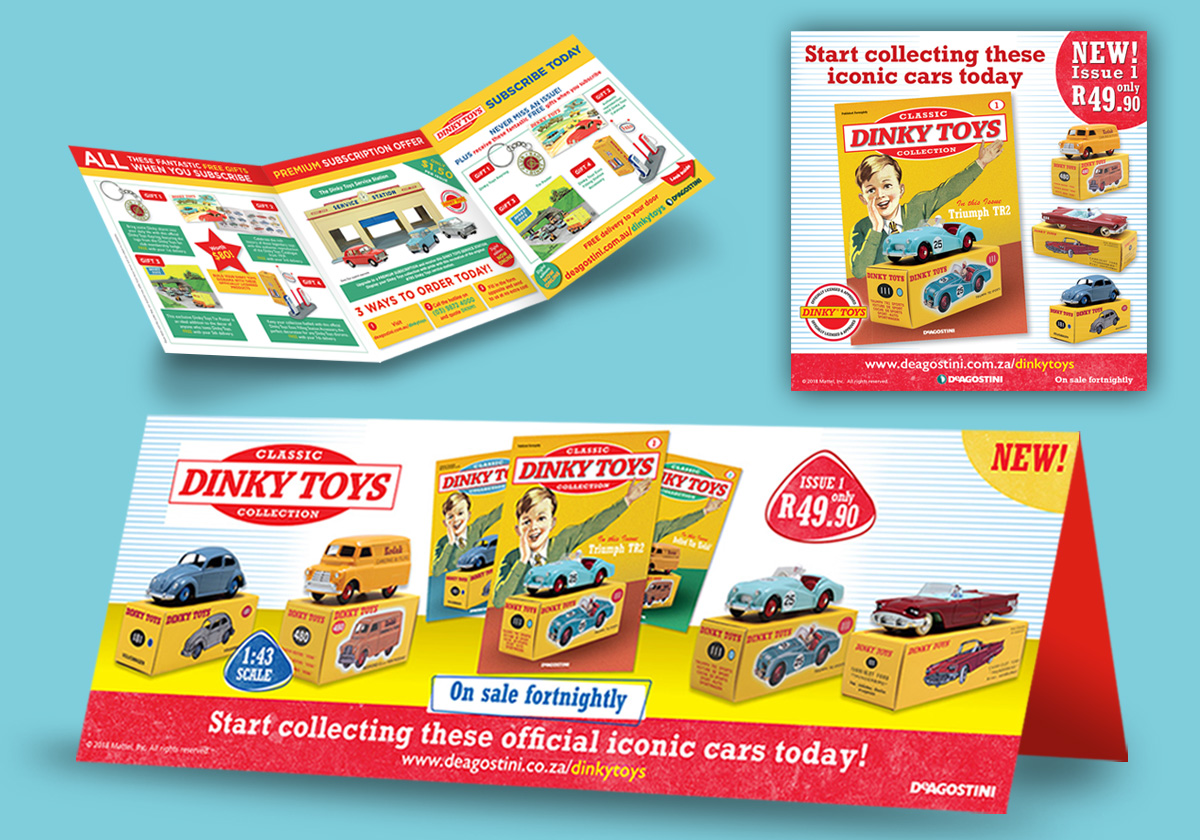 point of sales materials model dinky car collection
