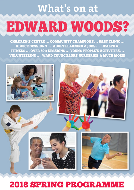 Edward Woods Community Centre printed brochures front cover