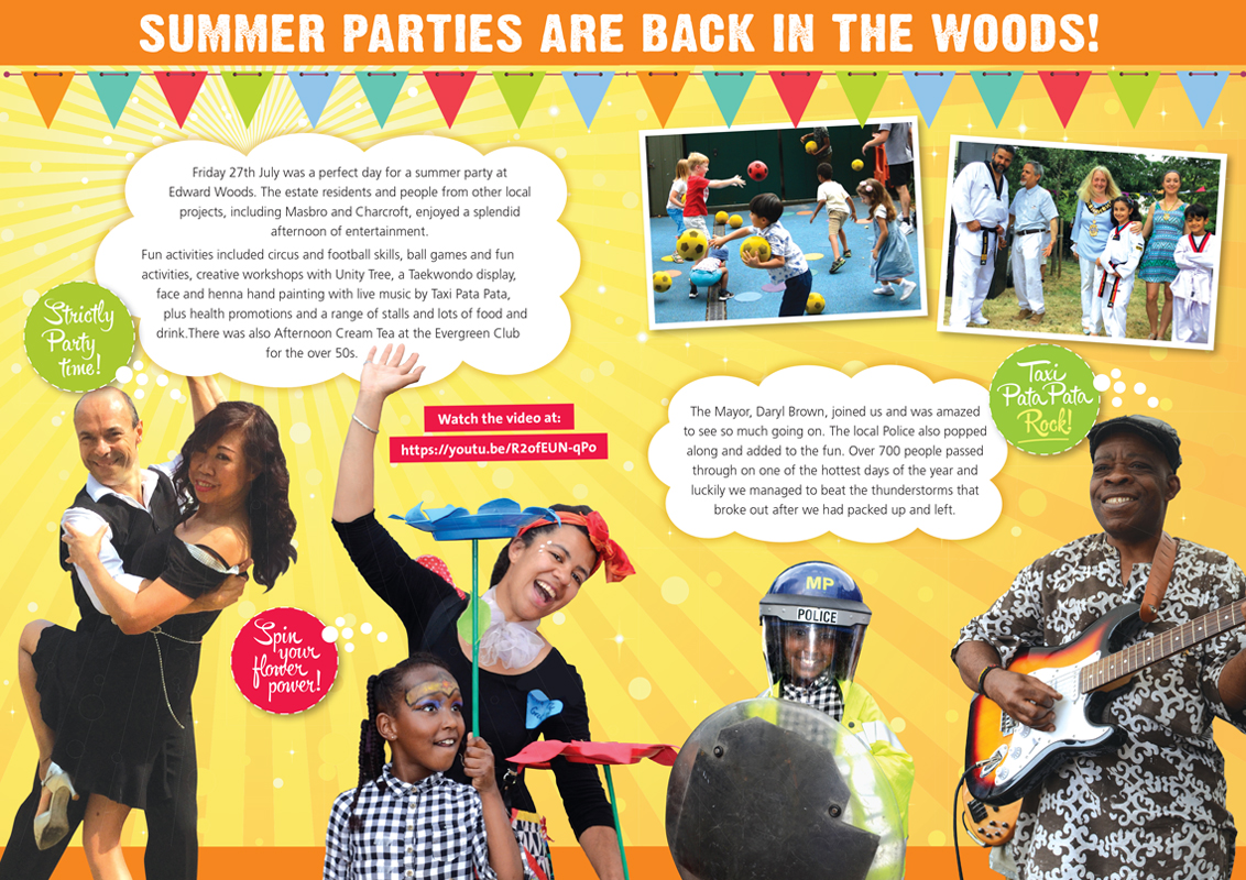 UPG Summer Party spread from printed brochures