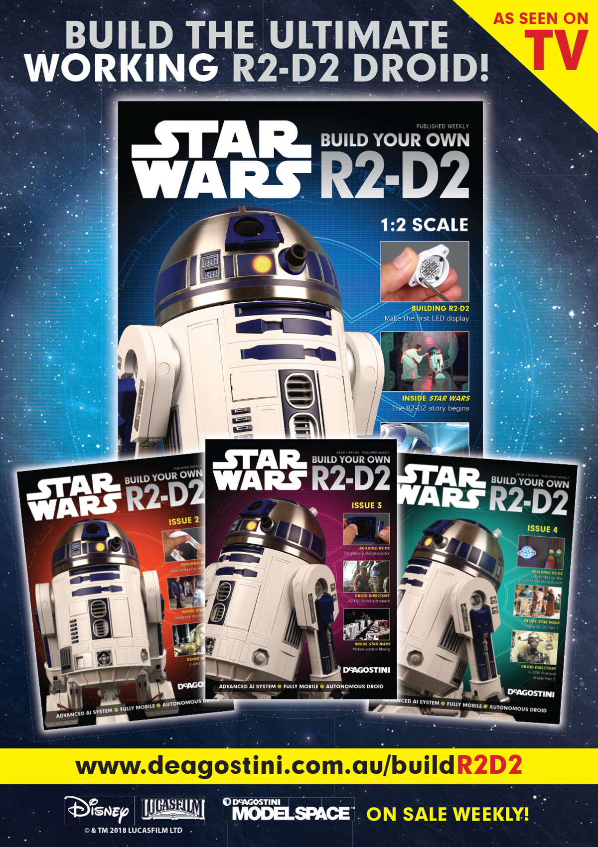 poster design for R2D2 marketing materials