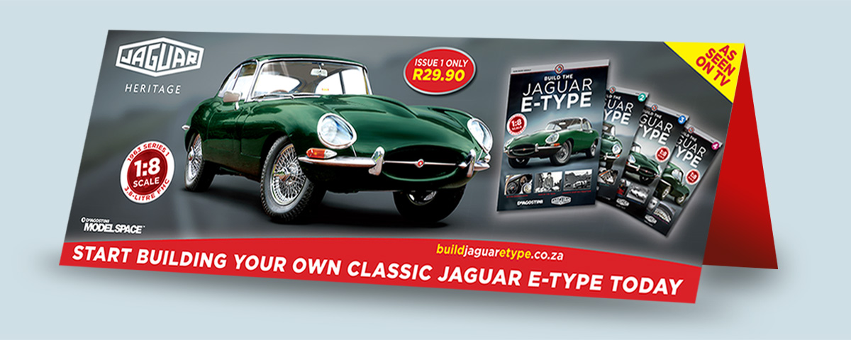 point of sales materials jaguar model car collection