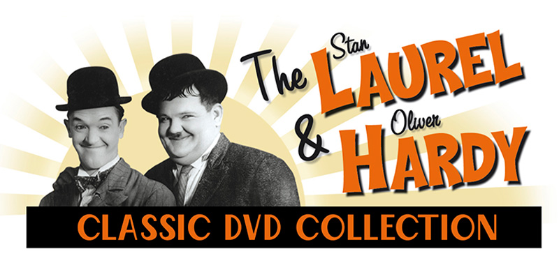 Logo design for Laurel and Hardy magazine and DVD collection