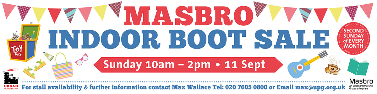 Masbro Banner design Indoor Boot sale
