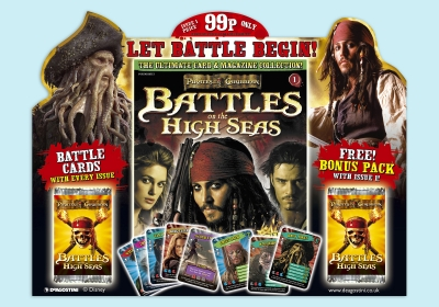 Marketing materials for Pirates of Caribbean (POC) product