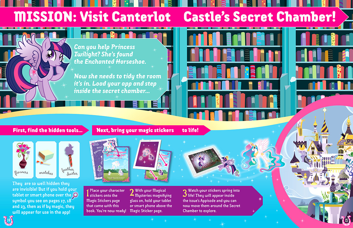 Magical Mysteries Sticker book design