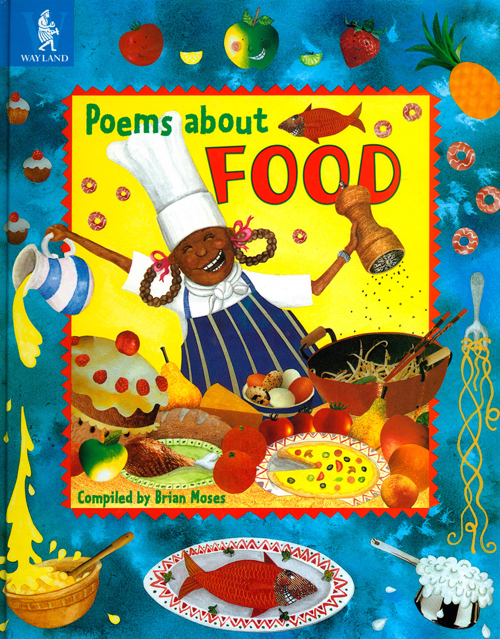 Poems about Food book cover design