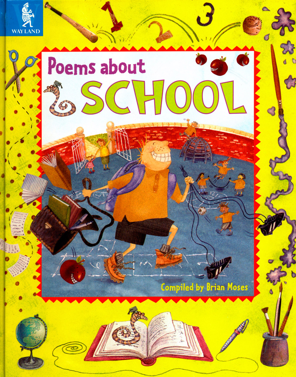 Poems about School book cover design
