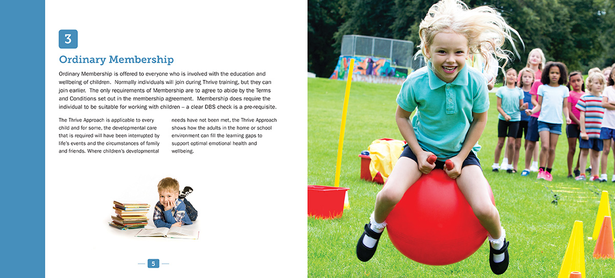 Thrive Members Handbook brochure design spread